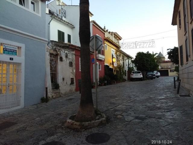 Imagen de unas fachadas del poplular barrio palmesano (Foto: María Jesús Almendáriz)