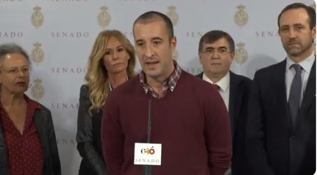 Los senadores Antich, Bauzá, con Lara Dibildos y César Lucendo presentado 'El teatro con Mallorca'