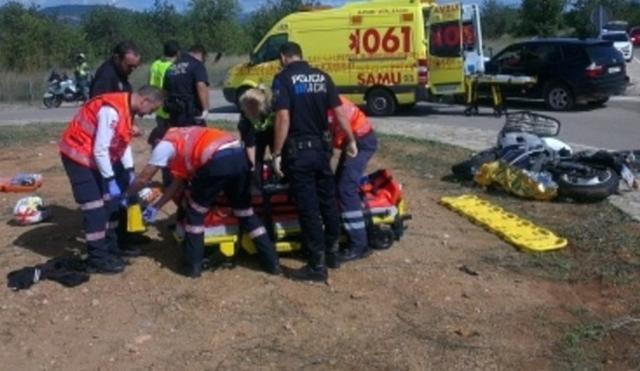 La mujer, que ha sufrido heridas graves, ha salido disparada de la moto tras un accidente causal (Archivo)