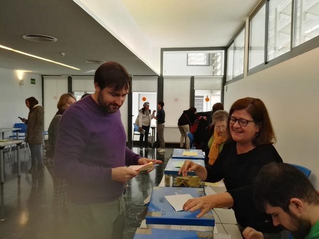 Durante la votación de MÉS per Palma