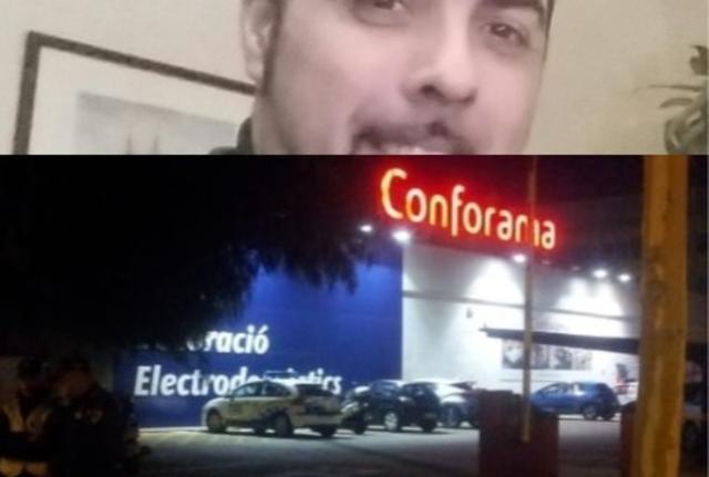 El presunto asesino arriba en la imagen, es vigilante de seguridad y Sacramento le había interpuesto denuncia
