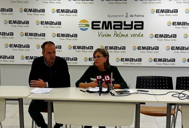 Imma Mayol, gerente de Emaya, y Carlos Nadal, jefe de Recursos Humanos