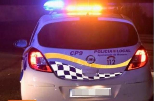 El conductor que se dio a la fuga estuvo a punto de atropellar a un agente de la Policía de Manacor