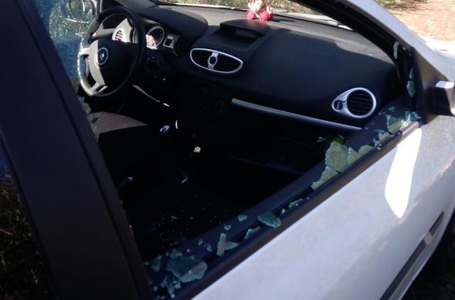 Uno de los coches asaltados (Foto: Guardia Civil)