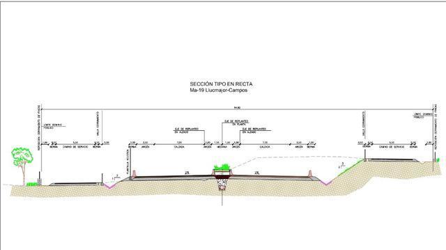 autopista llucmajora-campos modificacion con planos