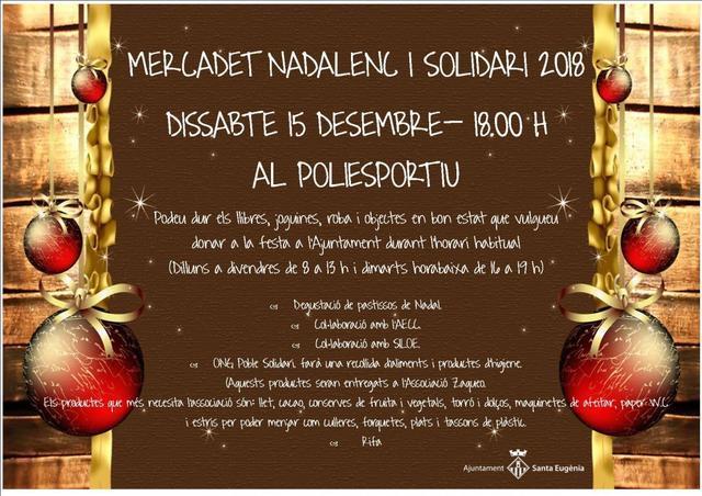 Programa completo del Mercadet de Nadal y solidario de Santa Eugènia