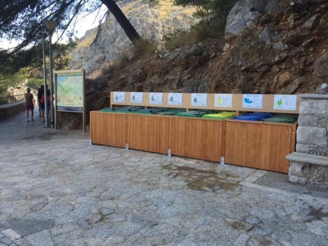 En el Torrent de Pareis se ha instalado un punto para depositar basura