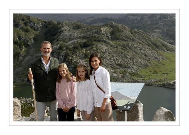 Los Reyes y sus hijas en Covadonga (Foto: Casa Real)