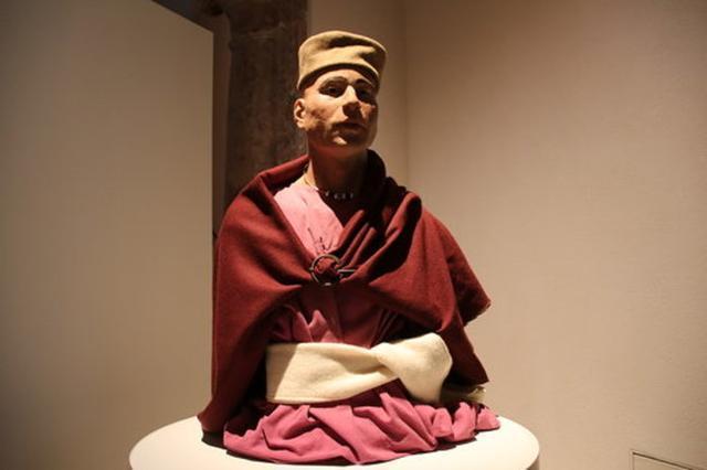 En la imagen una muestra de la exposición arqueológica en Can Balaguer