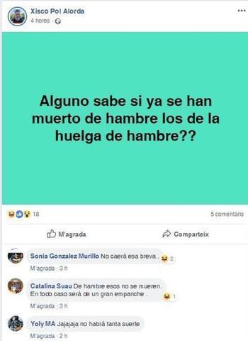 La publicación del candidato de Vox en Inca