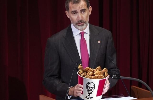 KFC se ha propuesto un reto: conseguir que Don Felipe VI pronuncie la palabra 'pollo' en el discurso de Navidad (Foto: Europa Press)