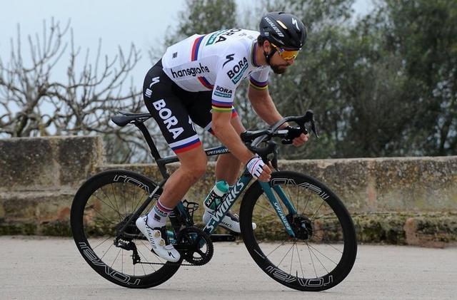 El ciclista eslovaco Peter Sagan entrenando en la Isla (Foto: Twitter)