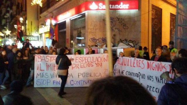 La manifestación 'Muévete por un alquiler digno' ha sido convocada por diferentes entidades (Foto: Twitter Terraferida)