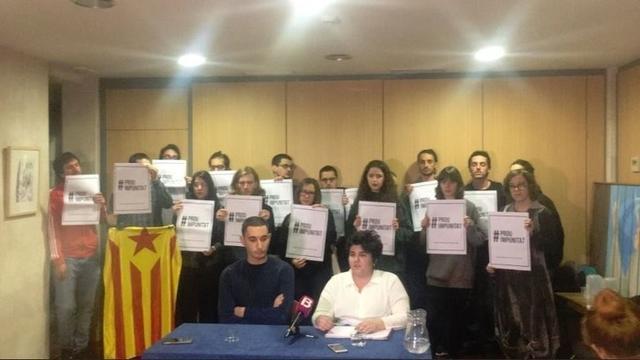 Imagen de la rueda de prensa de Arran Palma