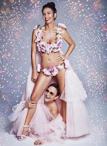 Cristina Pedroche con el singular estilista Josie (Instagram)