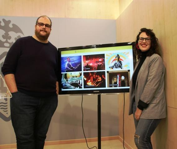 Miquel Ferrer y Eva Frade durante la presentación