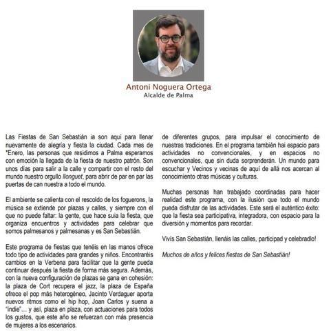 Antoni Noguera discurso faltas en castellano
