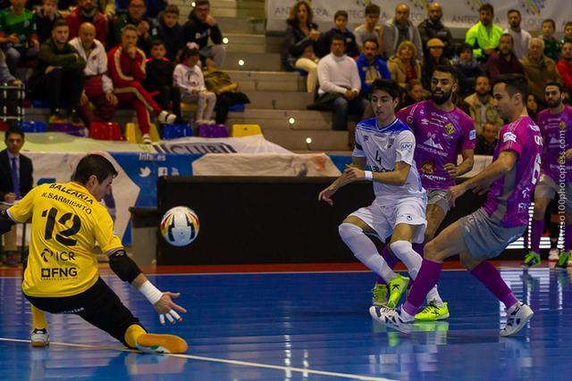 La actuación del meta Nico Sarmiento ha sido clave (Foto: Palma Futsal)