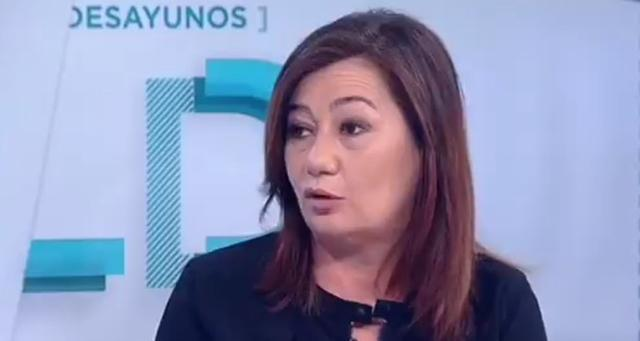 La presidenta, esta mañana, en Los Desayunos de TVE1