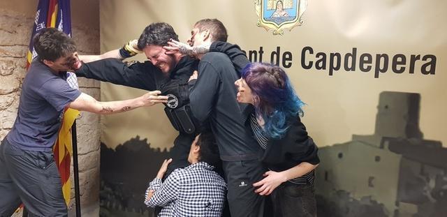 Los zombies no han faltado a la presentación (Foto: Ayto Capdepera)