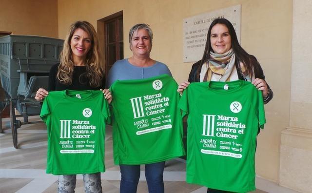 La alcaldesa de Andratx Katia Rouarch, la segunda teniente de alcalde Estefanía Gonzalvo, y la regidora de servicios sociales Xisca Castell (Foto: Ayto Andratx)