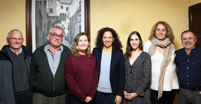Bestard y Cladera junto a otros compañeros de partido (Foto: PSIB PSOE)