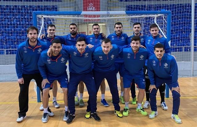 El plantel del Palma Futsal posando en Son Moix (Foto: Palma Futsal)