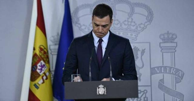 El presidente Sánchez en el momento de su anuncio