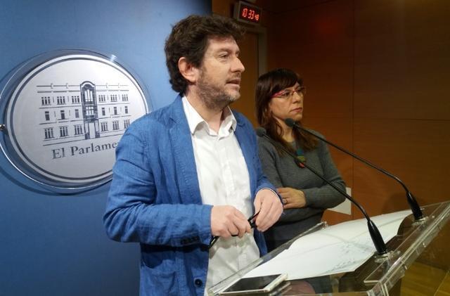 Alberto Jarabo y Laura Camargo (Foto: Podemos)