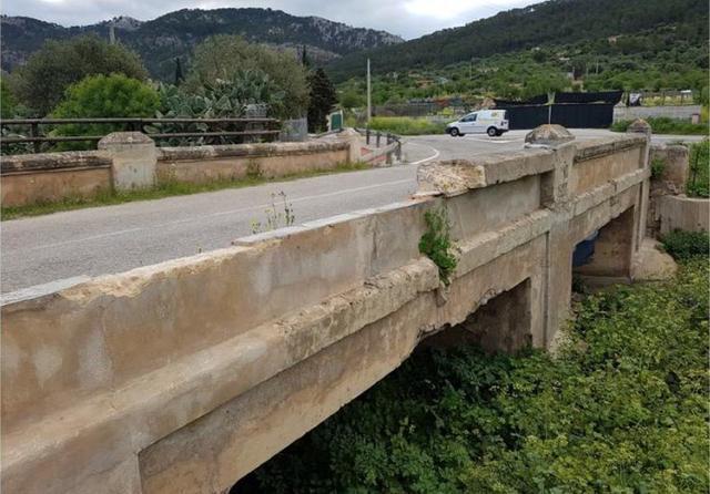 El Pont des dos ulls está situado en el tramo final del Camí Es Vinyet (Foto: Ayto Andratx)
