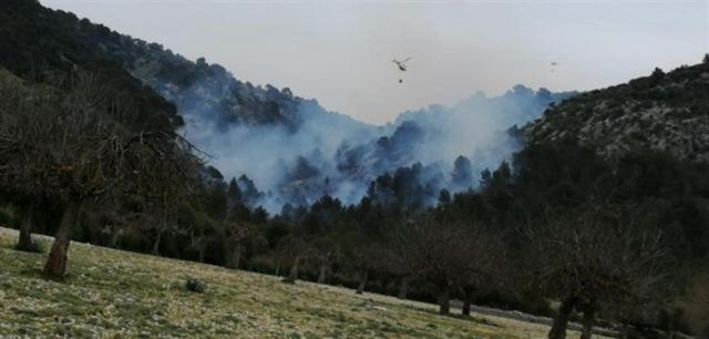El incendio lleva horas activo (Foto: Ibanat)
