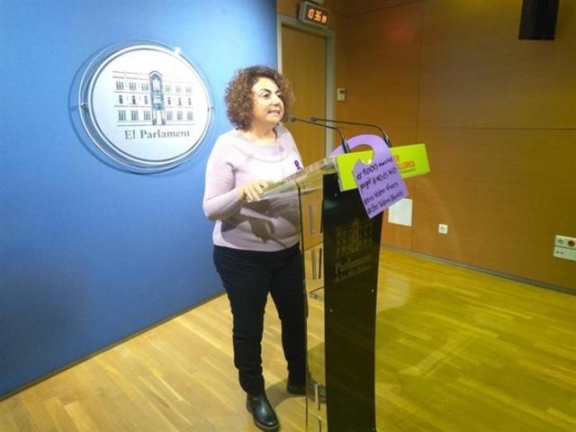 La diputada de MÉS per Mallorca en el Parlament, Aina Campomar