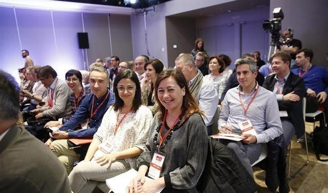 Armengol en el Comité Federal del PSOE celebrado este domingo en Madrid (Foto: EP)