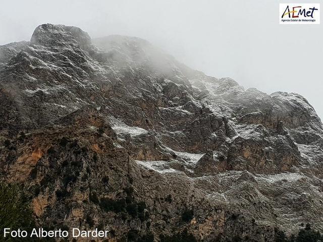 Durante marzo, suele nevar de media uno o dos días al año en Mallorca (Foto: Alberto Darder)