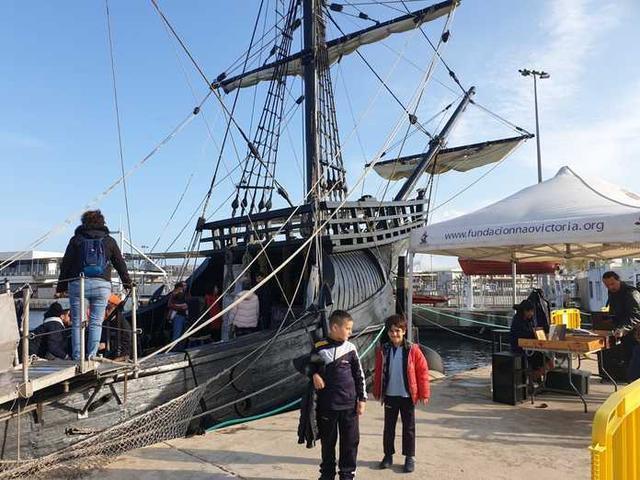 La Nao Victoria puede ser visitada desde hoy hasta el martes