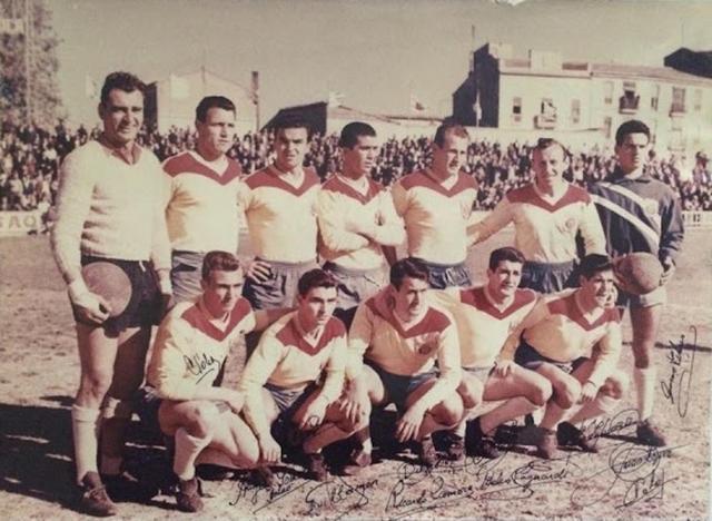 Los bermellones vistieron de amarillo en el partido que cambió su historia (Foto: Archivo familia Jaume)