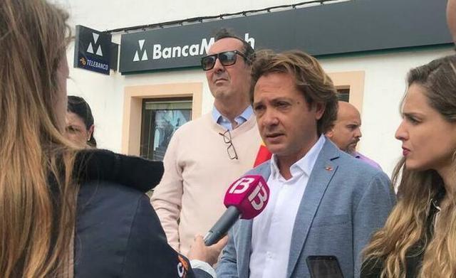 Campos y Contestí, este martes en Formentera (Foto: Vox Baleares)