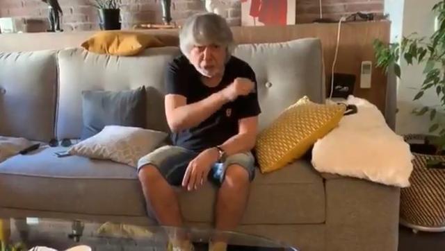 El actor andaluz en un momento de su vídeo
