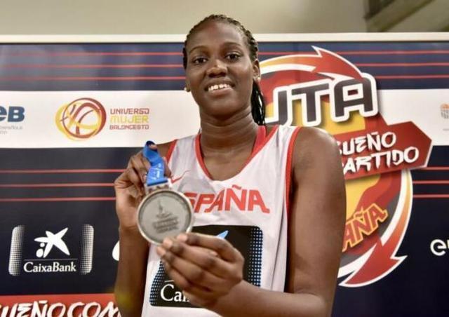 La mallorquina luciendo la medalla de plata lograda el pasado verano en los Juegos del Mediterráneo