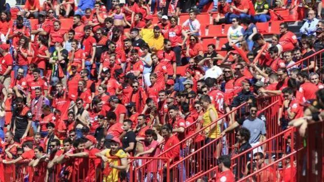 El Mallorca ha contado con el apoyo de unos 500 aficionados