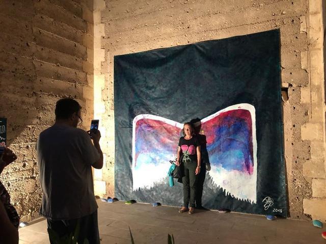 Artista locales y foráneos aprovechan para exponer sus obras durante las fiestas.