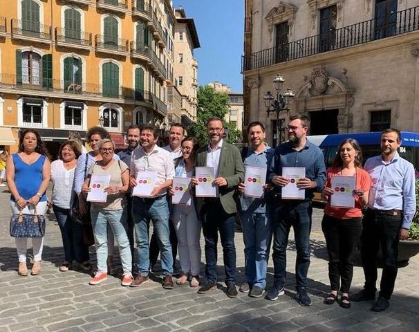 El PSIB, MÉS y Unidas Podemos han anunciado este viernes en Plaza de Cort que han llegado a un acuerdo para formar gobierno en el Ajuntament de Palma de 2019 a 2023