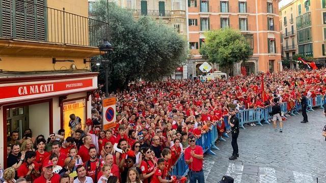 El mallorquinismo ha salido a las calles para celebrar el segundo ascenso consecutivo (Foto: Twitter RCDM)