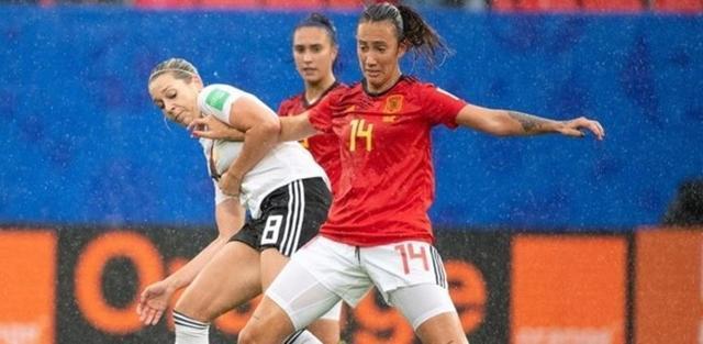 La mallorquin Virginia Torrecilla en el partido ante Alemania