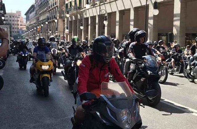 Imagen de la concentración motera en Palma (Foto: Europa Press)