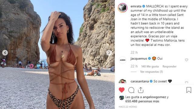 La modelo ha pasado una semana en la isla que visitó cada verano hasta los 14 años