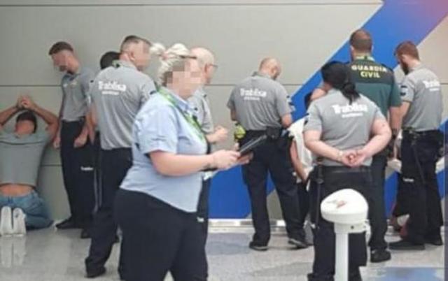 Momento de la detención de la manada alemana