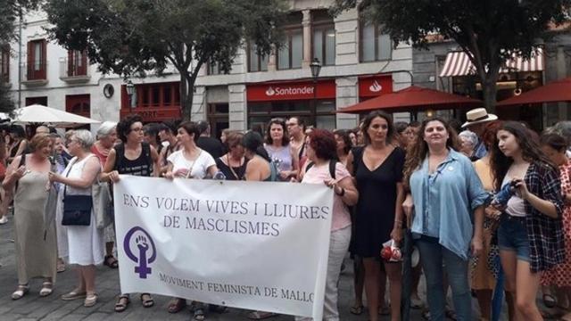 Imagen de la protesta del Movimiento Feminista de Mallorca contra la impunidad de las agresiones sexuales