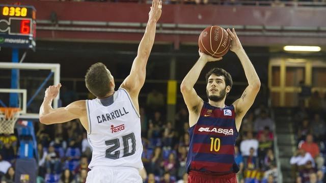 Abrines y Carroll en el FC Barcelona Lassa - Real Madrid (Foto: EP)