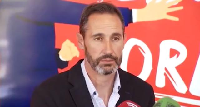 Vicente Moreno, durante la rueda de prensa llevada a cabo en Son Moix